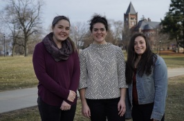 Colleen Parisi '20, Laura Howard '20,  Alexia Gianoulis '21 - CFAR mentors