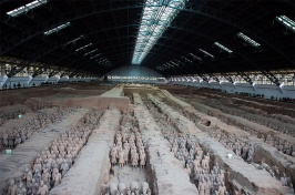 photo of the Terracotta Army site in China
