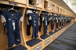 UNH football locker room