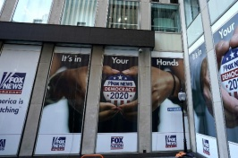 Photo showing marquees promoting Fox News