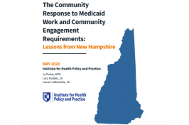 Exploring the Impact of NH's Medicaid Work and Community Engagement Requirements