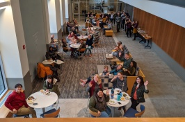 Graduate students at lunch
