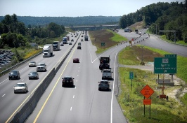 Photo if interstate 93 full of cards