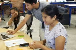 English learners experiment with 3-D printing during the EXCELL-in-STEM summer program at UNH STEM Discovery Lab