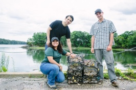 students with oyster cages