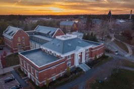 Birds eye view of the UNH Durham Campus