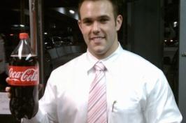 Ryan holding coke bottle