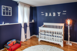 Photo of a babies room