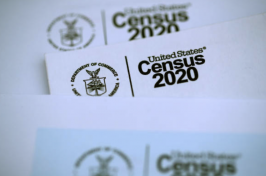 Image of papers with the 2020 Census header
