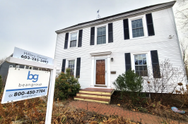 A white home for sale in Portsmouth, New Hampshire