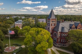 aerial view of Thompson Hall