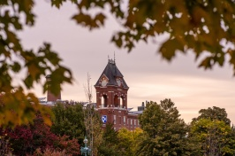 University of New Hampshire at Manchester building in the fall