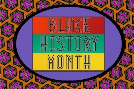 graphic image of Black History Month