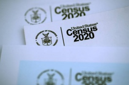 A photo showing a 2020 Census form