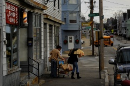 Image of women with groceries in Manchester, NH
