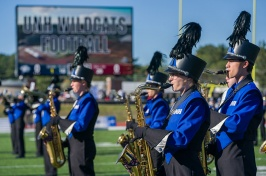 Wildcat Marching Band on the field