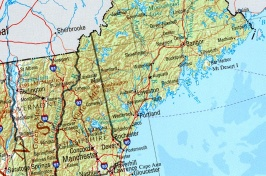 Graphic of a map of New England