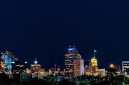 San Antonio, Texas skyline at night