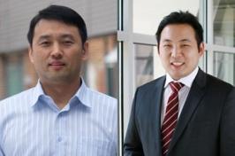 Side by side headshots of two male professors