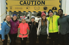 UNH alumni training for 2015 Boston Marathon