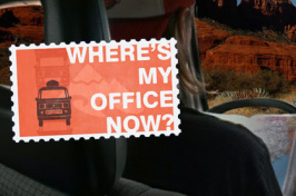 """where is my office now?"" sign"