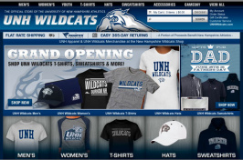athletics shop web page
