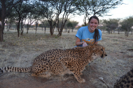 Alicia Walsh with cheetah