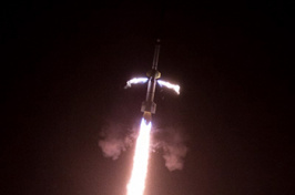 The Rocket Experiment for Neutral Upwelling 2 (RENU2) launch from Norway. Photo credit: NASA