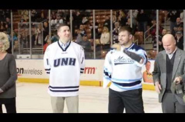 Veterans Honored at UNH-UMaine Men's Hockey Game