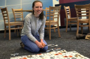 UNH student volunteer