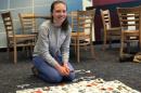 UNH student volunteer