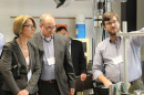 Researchers and aerospace industry representatives at UNH