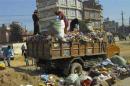 picking through trash in Nepal
