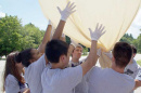 UNH Project SMART participants launching scientific balloon