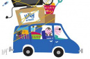 cartoon of UNH Move in family