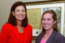 U.S. Sen. Kelly Ayotte with Taylor Reidy '14