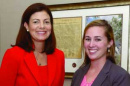 U.S. Sen. Kelly Ayotte with Taylor Reidy '14