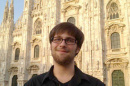 """Americano"" Chris Foss '13 in front of the Duomo of Milan."