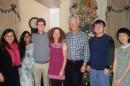 mark huddleston, his family, and students at thanksgiving
