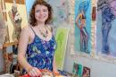 jennifer lindsay in her studio