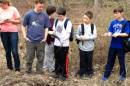 oyster river middle schoolers at river's edge