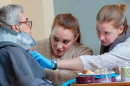sarah drumheller with patient