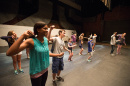 theatre students rehearsing at summer camp