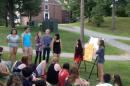 upward bound students giving an outdoor presentation