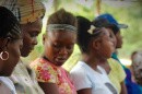 Haitian mothers at a rural clinic