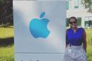 UNH student Abby Koczera '17 at Apple