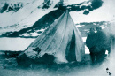 tent in mountains from Schley Relief Expedition, 1884