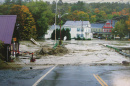 Flooded road in New Hampshire town