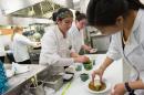 students preparing a gourmet dinner