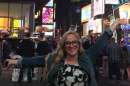 UNH senior Kathleen Kuhnly in Times Square